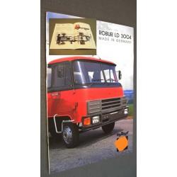 Prospekt Werbung Robur mit Deutz Motor LD 3004 original