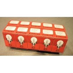 10x Glühlampe Biluxlampe Leuchte ELVELUX 12 Volt 45/40 Watt P45t