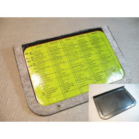 Deckel für Spritzwand Sicherungsbelegung Robur LO LD 74328